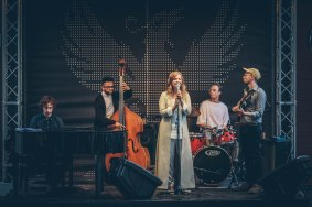 "Arta Jēkabsone Quintet Concert ""Light"" Berga Bazārs Festival. Photo by Lauris Vīksne. (2018)"